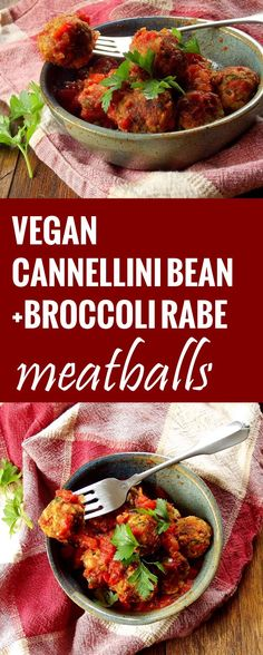 Broccoli Rabe Cannellini Bean Meatballs