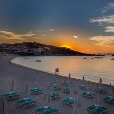 A beach in Baia Sardinia, Italy.