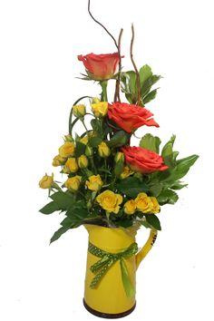 Chaveirinho de louça , com mini rosas e rosas. Bem me quer flores Fortaleza
