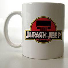Funny Jurassic Jeep Logo Inspiration Mug Two Side 11 Oz Ceramic Mug http://www.amazon.com/dp/B00VFIQTWY/ref=cm_sw_r_pi_dp_XkFjvb19JCSMM