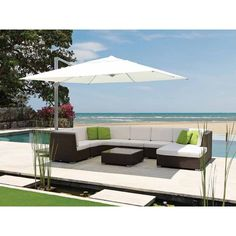 Kingstone Commercial 4m Square Parasol