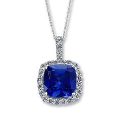 Sapphire Cushion-cut Necklace 10K White Gold priced at $239.40 for a limited time only!  Get it while it is on sale at the Kay Jeweler's store in the Lufkin Mall.  Just ask for Gabriela!