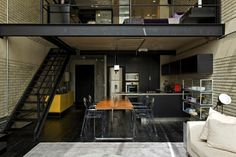 open concept kitchen / loft kitchen
