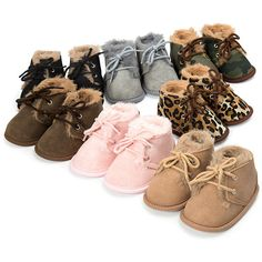 Kids Baby Boots with Fur, $15