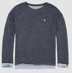 Wide round neck pullover in a crazy heather grey-black colour, which looks like poppy seeds. A real style staple! Real Style, Poppies, Concrete, Heather Grey, Pullover, Sleeves, Mens Tops, Collection, Color