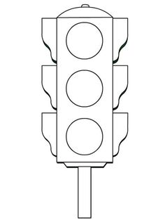 Traffic Light Worksheets Funnycrafts within Traffic Light Coloring Page