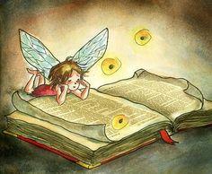 Ella Elviana illustration- book fairy.