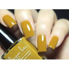 Lacquer Lust Fall Harvest Cremes collection - a-Maize-ing Fall Acrylic Nails, Acrylic Nail Designs, Nail Art Designs, Opi Nail Colors, Fall Nail Colors, Yellow Nails, White Nails, Nail Manicure, Gel Nails