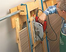 Panel Saw Woodworking Plan  Why did I buy a table saw? When I could have made this.