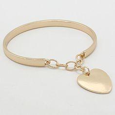 Heart Bracelet in Gold on Emma Stine Limited