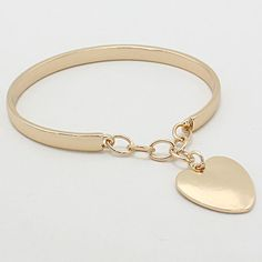 Heart Bracelet in Gold on Emma Stine Limited