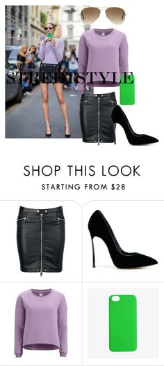 """""""Streetstyle #41"""" by romi-kella on Polyvore featuring Diesel, Casadei, Vero Moda, C6, Ray-Ban, women's clothing, women, female, woman and misses"""