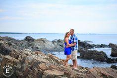 York Beach Maine Engagement Photos | Lauren & Nick