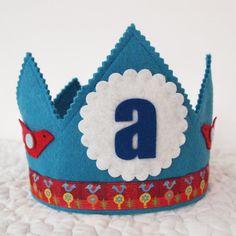 Waldorf Felt Birthday Crown Boys first Birthday Crown by mosey