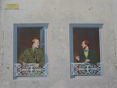 Angouleme murals: Black and Mortimer