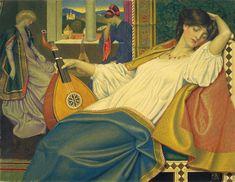 "Frank Cadogan Cowper (British, 1877 - 1958), ""Venetian Ladies Listening to the…"