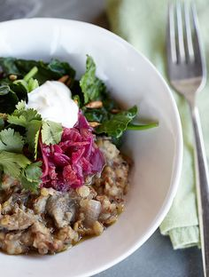 Hearty Buckwheat, Red Lentil, Mushroom & Chicken Porridge