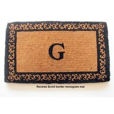 "Geo Crafts Imperial Reverse Scroll Border Doormat Rug Size: 24"" x 39"", Letter: B"