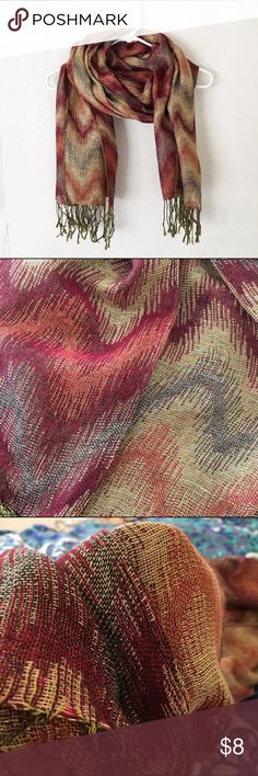 Fashion scarf Metallic red and gold scarf. In great condition! Accessories Scarves & Wraps