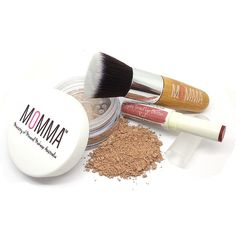 MOMMA Starter Kit includes:    1. Matte or Semi-Matte Mineral Base in large lockable sifter jar - 7g  2. Ultra soft synthetic bristles Vegan Flat Top Brush  3. Jojoba Tinted Lip Butter for everyday wear | Shop this product here: spree.to/apfm | Shop all of our products at http://spreesy.com/Diva_styles    | Pinterest selling powered by Spreesy.com