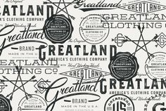 Typography  Greatland  Allan Peters