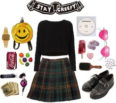 """""""coffin cutie"""" by postraphaelite ❤ liked on Polyvore"""