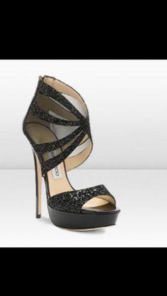 Black Sexy High Heels.