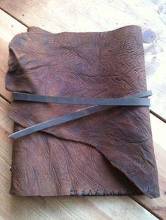 Leather binder Post bound binder buffalo by LUSCIOUSLEATHERNYC