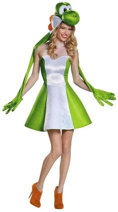 Super Mario Bros. Yoshi Dress Costume - Adult Plus