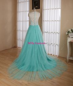 Long lace prom dressmodest wedding dress lace by MillyCouture