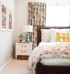Bed in front of window - Little Green Notebook: House Tour: Emily and Todd's Bedroom