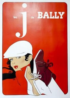 I would love one of these old large vintage Bally prints.