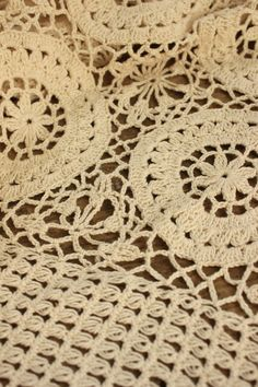 Vintage French crochet bed cover coverlet bedspread lace ~ handmade LARGE ~ ecru | eBay