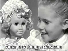 Vintage TV Commercial 1960s| Chatty Cathy toy doll. When I was 6 years old, Chatty Cathy was the Holy Grail of dolls.  This commercial is a bit before my time, but the idea was still the same by the time I wanted one a few years later.  I was so happy when I finally got a Chatty Cathy!