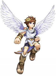 Pit Flies again in Kid Icarus Uprising for the Nintendo Super Smash Bros Brawl, Nintendo Characters, Video Game Characters, Fictional Characters, Monster High Boys, Character Art, Character Design, Character Concept, Kid Icarus Uprising