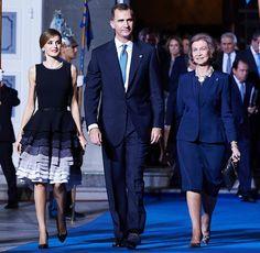 King Felipe VI of Spain, Princess Letizia of Spain and Queen Sofia of Spain attend the Princess of Asturias awards ceremony