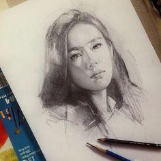 Instagram media by toolkit04 - 40 mins or less sketch - 2B+5B pencils ☕️✏️ #dikatoolkit