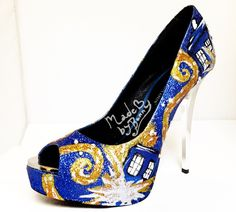 Gorgeous Custom Made Doctor Who Exploding TARDIS Heels