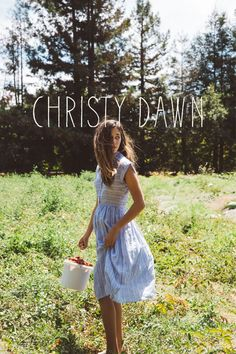 All of our dresses are made with deadstock fabric so each Christy Dawn piece is limited edition. Its the perfect win/win. We get beautiful fabric without polluting the planet, the landfills aren't quite as packed, and you get a one of a kind Christy Dawn dress that was handmade in LA.