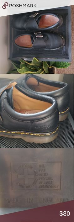 """Vintage Dr. Martens Made in England Monkstrap Shoe The """"Made in England"""" Docs are without a doubt a buy-it-for-life shoe.  Fits EU size 38, UK 5, US 8 (women's). Small amount of wear at the toes, shown in photos. Goodyear welted soles are in unbelievable condition. Great with high socks and boyfriend jeans, or with cuffed skinny jeans. Very comfortable. Dr. Martens Shoes Flats & Loafers"""