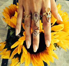 Can't choose what ring to wear? Wear them all on one hand! #statementrings