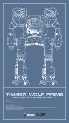 Timber Wolf Prime Blueprint Vertical by AntarcticanPiranha.deviantart.com on @DeviantArt