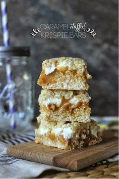 All time favorite!!!   Caramel stuffed rice crispy treats