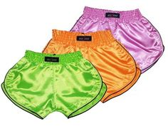 Girl Muay Thai Shorts Pack 3 from Boxsense, Thai boxing shorts for women. http://www.muaythaisport.com/3-x-Boxsense-Women-Muay-Thai-Shorts.html