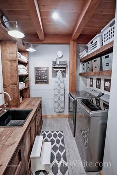 Even a small laundry room can be a dream laundry room. My husband and I just finished up our laundry room project, and we couldn't be happier. Gone are the piles of laundry on the floor, laundry baske Small Laundry Rooms, Laundry Room Design, Laundry Area, Laundry Room Remodel, Farmhouse Laundry Room, Laundry Room Organization, Organizing, Woodworking Projects, Wood Projects