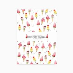 Notebook journal diary ice cream A6 summer by SoniaCavallini