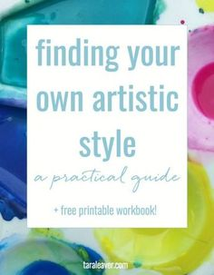 Finding your own artistic style - a practical guide, with free workbook! No one can teach you your unique style and approach as an artist, but there are ways to start uncovering and developing it! This post offers a few ways to help you make your art your own.