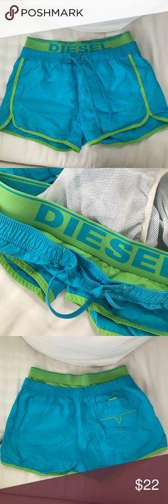 Diesel swim trunks Blue and green sexy Diesel swim trunks Diesel Swim Swim Trunks