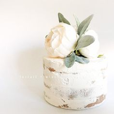 Ivory Peony and Lambs Ear Cake Topper // Cake Topper // Peony Cake Topper // Smash Cake Topper // Flower Cake Topper // Birthday Cake Topper Flower Cake Toppers, Birthday Cake Toppers, Wedding Cake Toppers, Birthday Cakes, Wedding Cakes With Cupcakes, Cool Wedding Cakes, Peony Cake, Lambs Ear, Cake Decorating Techniques