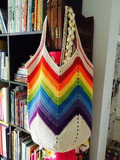 Solid Granny Square Bottom Bag Crochet Tutorial on Ravelry